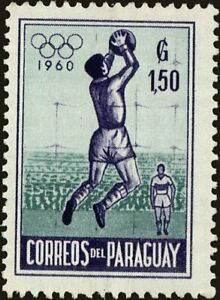 PARAGUAY -1960- Summer Olympic Games 1960🤩Goalkeeper Catching Soccer ball😎#559