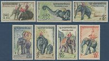 LAOS N°44/50* ELEPHANTS, TB, 1958,  SC #41-47 MH