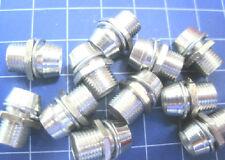 50pcs 5mm Chrome Metal LED Bezel Holder Panel Display