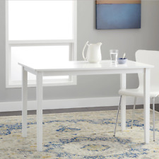 Dining Tables for Small Spaces Kitchen Casual White Finish Rectangular Dinner
