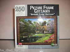 250 Piece Jigsaw Puzzle Picture Frame Cottages Spring Lake 10 x 14 in *NISB