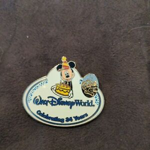 Walt Disney World Pin - 34th Anniversary Cast Member Name Tag - Mickey Mouse