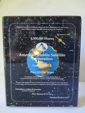 AMSC AMERICAN MOBILE SATELLITE CORPORATION INVESTOR DESKTOP AWARD 1993