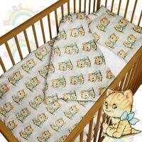 baby BEDDING set crib cot kitty DUVET bumper MOSES BASKET fitted sheet BOY GIRL