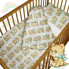 baby BEDDING set crib cot kitty DUVET bumper MOSES BASKET fitted sheet BOY GIRL