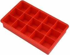 15-Square Soft Silicone Mould Ice Cube Tray Makes Perfect Ice Cubes Jelly Sweet