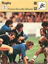 FICHE CARD: 2. France - All Blacks Nouvelle-Zélande 1977 RUGBY à XV 1970s