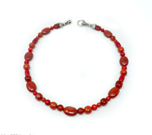 Designer Carolyn Pollack Relios Carnelian Red Jasper Sterling Silver Necklace