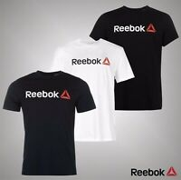 Mens Reebok Short Sleeves Delta Logo Printed T Shirt Crew Top Sizes S-XXL