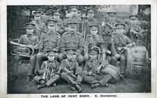 "WW1? PRINTED POSTCARD OF ""THE LADS OF KENT BAND.  C. COMPANY"""