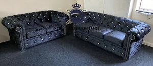 Chesterfield Sofa in Crushed Velvet