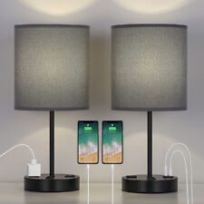USB Table Lamp, Bedside Lamps with 2 USB Charging Ports,...