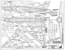 Skyleada Avro 698 Vulcan for jetex 100 plan set
