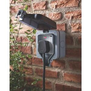 BG 13A 1G Single Garden Electric Plug Wall Socket Weatherproof IP66 Outdoor UK