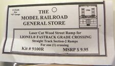 Railroad Crossing RAMP for Lionel O 3-rail Straight Section FasTrack NEW product