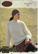 Women Cable Sweater Shepherd 5012 knitting pattern 10 ply yarn Cynthia Helene