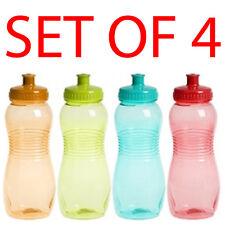 4 X Botella de agua bebidas de deportes fitness Hidratación Senderismo Ciclismo 550 Ml Libre De Bpa