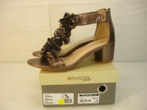 Women's 8.5 39 Patrizia by Spring Step Tazetta Bronze Floral Sandals T-Strap NIB