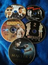 Two For The Money, Sin City, The Rundown, Master Z, Bad Boys ll Dvds No Cases