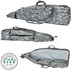 "VISM 45"" Tactical Double Rifle Drag Bag Pouch Soft Gun Case Gray Digital Camo"
