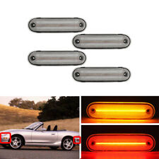 Mazda Miata MX-5 1990-2005 4PCs F&R Led Side Marker Lights Amber Red Indicator