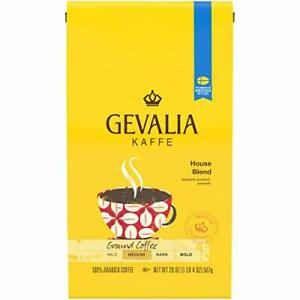 Gevalia House Blend Ground Coffee (20oz Bag) 20 Ounce (Pack of 1), Basic Pack