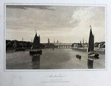 AMSTERDAM - Original Aquatinta 1807 John Carr Nederland Niederlande Netherlands