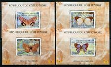 Côte d'Ivoire Ivory Coast 2005 Papillons Butterflies Farfalla Bloc 84-87