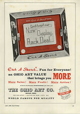1964 PAPER AD The Ohio Art nCo Etch A Sketch Bryan Ohio Box