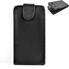Black Magnetic Flip Leather Phone Cover Pouch Case For Huawei Ascend Y300 U8833