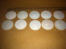 Milk Glass Mason Jar Caps. Vintage Original (Lot Of 10) Old Store Stock.