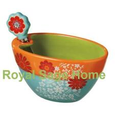 Daisy Floral Spring Dip Bowl and Spreader S/2