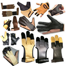 Archers Leather Shooting Gloves, Shooting Hunting Bow Gloves