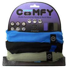 Oxford Comfy blue/black/grey Motocicleta Cuello Tubo 3 Pack Bandana Máscara