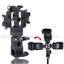 Tri-Hot Shoe Mount Flash Bracket/Umbrella Holder for Canon 580EX II/430EX/550EX