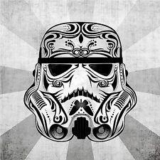 "2.5"" Star Wars Stormtrooper Sugar skull sticker / decal. Jedi Darth Vader Empire"