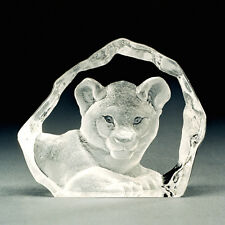 MINIATURE ~ MATS JONASSON ~ Crystal LION CUB * - Rare