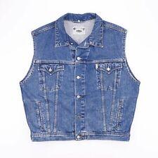Vintage MUSTANG Blue Sleeveless Denim Jacket Mens Size 2XL