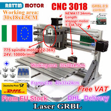 EU SHIP 3 Axis 3018 Mini DIY CNC Router PCB/Wood Carving Engraving Laser Machine