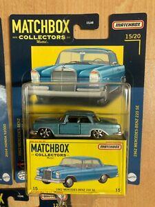 Matchbox 2021 Superfast Welle C Collectors Edition Mercedes 220 SE blau