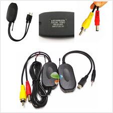 2.4 GHZ sans fil voiture SUV caméra moniteur arrière vue inverse de RCA vidéo émetteur/récepteur