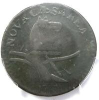1787 New Jersey Coin (Large Planchet, Plain Shield) - PCGS VF30 - $650 Value!
