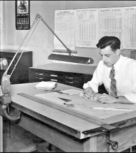 Dazor Articulating Drafting Watchmaker Light Floating Desk Lamp P-2134