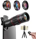 Kit de Lentes para Camara Celular y Tripod, Phone Camera Lens 4 in 1 Kit