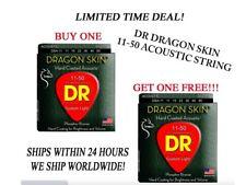 **DR DRAGON SKIN LIGHT ACOUSTIC GUITAR STRINGS (11-50) -- COATED STRINGS**