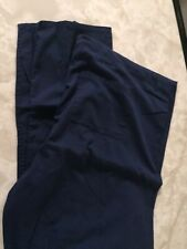 Sb Unisex Scrub Pants Xl Blue Poly Cotton Men Woman's 1x Plus Medical