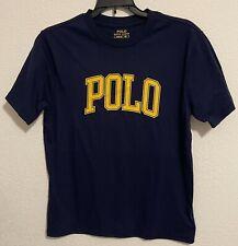 NWT Polo Ralph Lauren Big Boys Kids Logo Jersey T-Shirt Navy Blue Size Medium