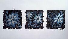 Original Ink illustration ' 3 White Flowers' by Michelle Ranson