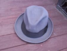 Vintage grey gray men's hat Filene's clothing accessory 7 3/8