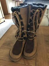UGG Australia Uggs Womens 5 39 Whitley Tall Sheepskin Suede Lace Up Boots 5230
